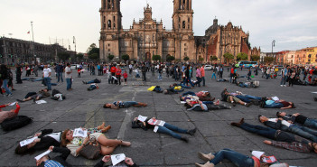 PROTESTS IN MEXICO CITY OF MISSING PRESUMED KILLED STUDENTS