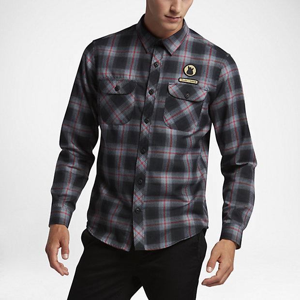 hurley-x-fender-dri-fit-mens-flannel-shirt